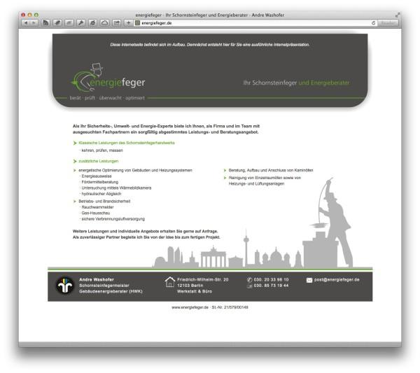 energiefeger · Ihr Schornsteinfeger und Energieberater · Andre Washofer